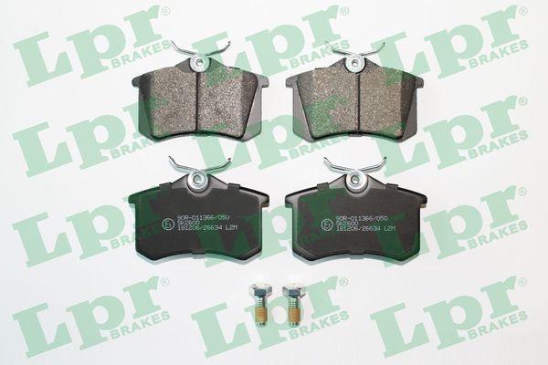 LPR  05P868 Bremsbelagsatz, Scheibenbremse Breite: 87mm, Höhe: 52,9mm, Dicke/Stärke: 17mm
