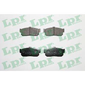 Bremsbelagsatz, Scheibenbremse Breite: 105,5mm, Höhe: 47mm, Dicke/Stärke: 16mm mit OEM-Nummer 44060-5M490