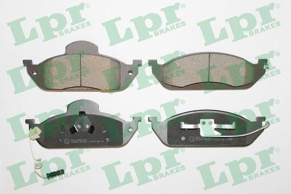 LPR  05P983 Bremsbelagsatz, Scheibenbremse Breite: 188mm, Höhe 1: 77mm, Höhe 2: 58,8mm, Dicke/Stärke: 16,3mm