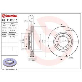 Disco freno 09.A142.10 L 400 Bus (PD_W, PC_W, PA_V, PB_V, PA_W) 2.5 TD 4WD ac 1996