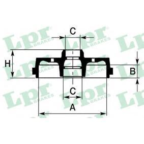 Bremstrommel Ø: 180mm mit OEM-Nummer MB 242007