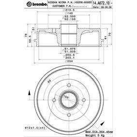 Bremstrommel Art. Nr. 14.A672.10 120,00€
