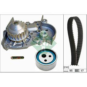 Wasserpumpe + Zahnriemensatz Breite: 17,00mm mit OEM-Nummer 7700736969