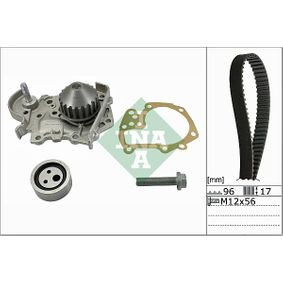 Wasserpumpe + Zahnriemensatz Breite: 17,00mm mit OEM-Nummer 6001543400
