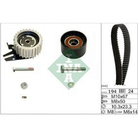 Timing Belt Set Width: 24,00mm with OEM Number 636317