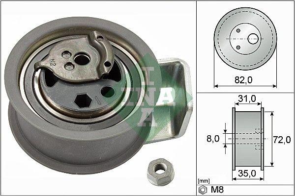 INA  531 0436 20 Napínací kladka, ozubený řemen R: 72,00mm