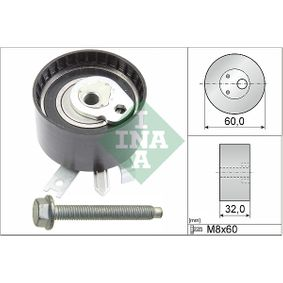 Tensioner Pulley, timing belt Ø: 60,00mm with OEM Number 8200585574