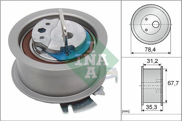 INA  531 0565 30 Spannrolle, Zahnriemen Ø: 78,40mm