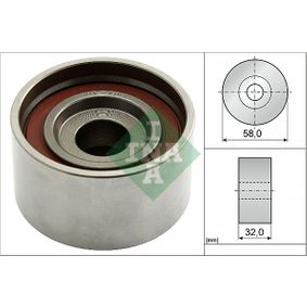 Tensioner Pulley, timing belt Ø: 58,00mm with OEM Number 24410-27000