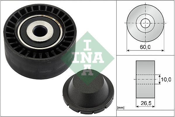 INA  532 0331 10 Umlenkrolle Keilrippenriemen Ø: 60,0mm, Ø: 60,0mm, Ø: 60,0mm