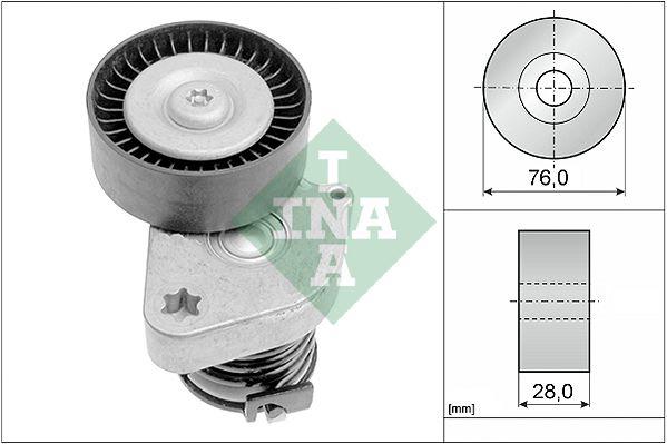 INA  534 0081 30 Spannarm, Keilrippenriemen Breite: 28,0mm, Ø: 76,0mm