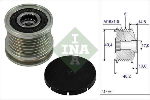 INA Frihjulskoppling, generator 535 0001 10