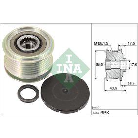 Generatorfreilauf 535 0105 10 CLIO 2 (BB0/1/2, CB0/1/2) 1.5 dCi Bj 2020