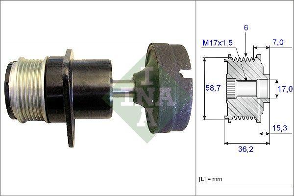 INA  535 0157 10 Generatorfreilauf