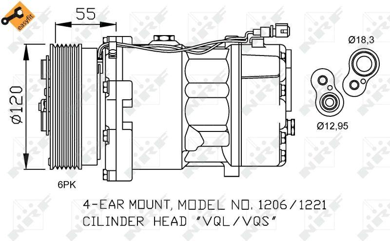 Compresor de Aire Acondicionado NRF 32064 conocimiento experto