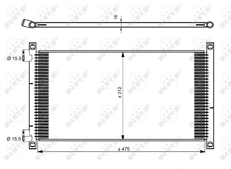 Klimakondensator 35490 NRF 35490 in Original Qualität