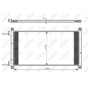 Kondensator, Klimaanlage Kältemittel: R 134a mit OEM-Nummer 46 788 052