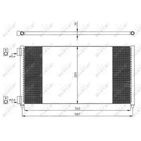 Condenser, air conditioning 35496 PUNTO (188) 1.2 16V 80 MY 2000