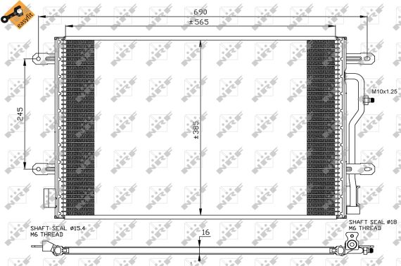 Klimakondensator 35536 NRF 35536 in Original Qualität