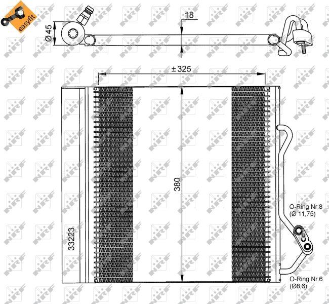 Kondensator Klimaanlage NRF 35720 Erfahrung