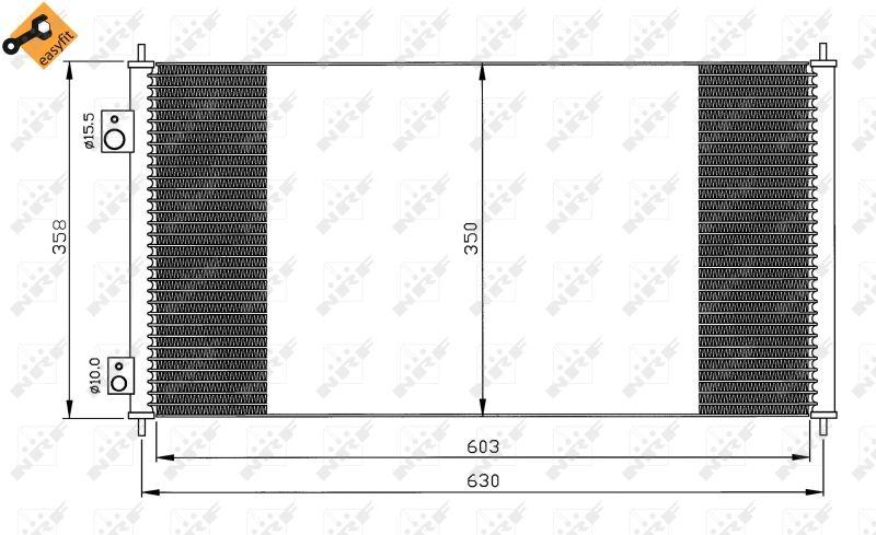Kondensator Klimaanlage NRF 35855 Erfahrung