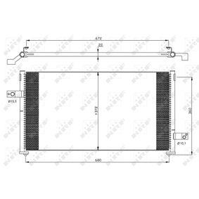 NRF  35877 Kondensator, Klimaanlage Kältemittel: R 134a