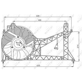 Вентилатор, охлаждане на двигателя 47065 25 Хечбек (RF) 2.0 iDT Г.П. 2005