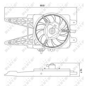 Fan, radiator 47248 PUNTO (188) 1.2 16V 80 MY 2004