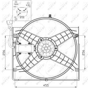 NRF Kühler, Motorkühlung 50538 für AUDI 90 (89, 89Q, 8A, B3) 2.2 E quattro ab Baujahr 04.1987, 136 PS