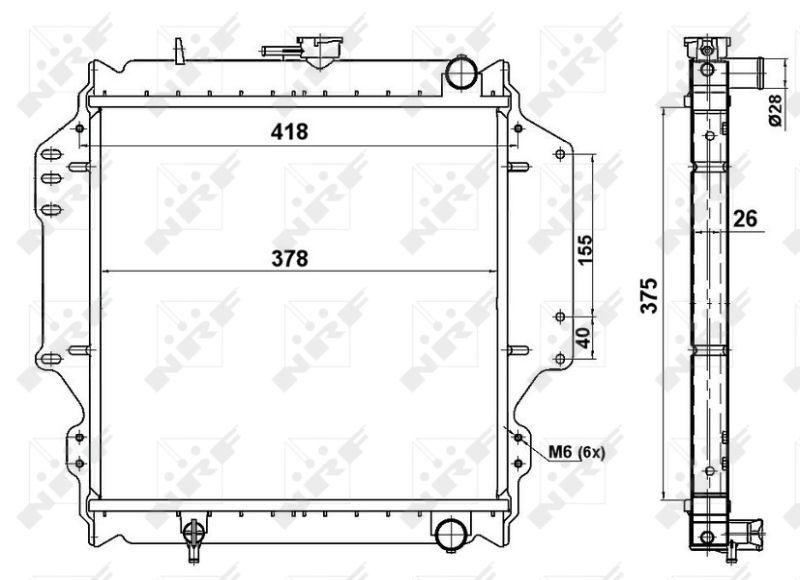 513161 Radiador, refrigeración del motor 8718042047076 barato