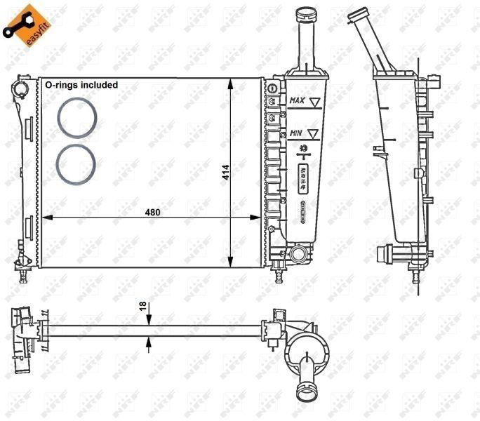 Motorkühler NRF 53526 8718042037589