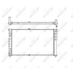 NRF Kühler, Motorkühlung 58110 für AUDI 90 (89, 89Q, 8A, B3) 2.2 E quattro ab Baujahr 04.1987, 136 PS