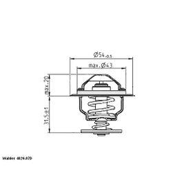 WAHLER Thermostat, Kühlmittel 4820.87D für AUDI A3 (8P1) 1.9 TDI ab Baujahr 05.2003, 105 PS