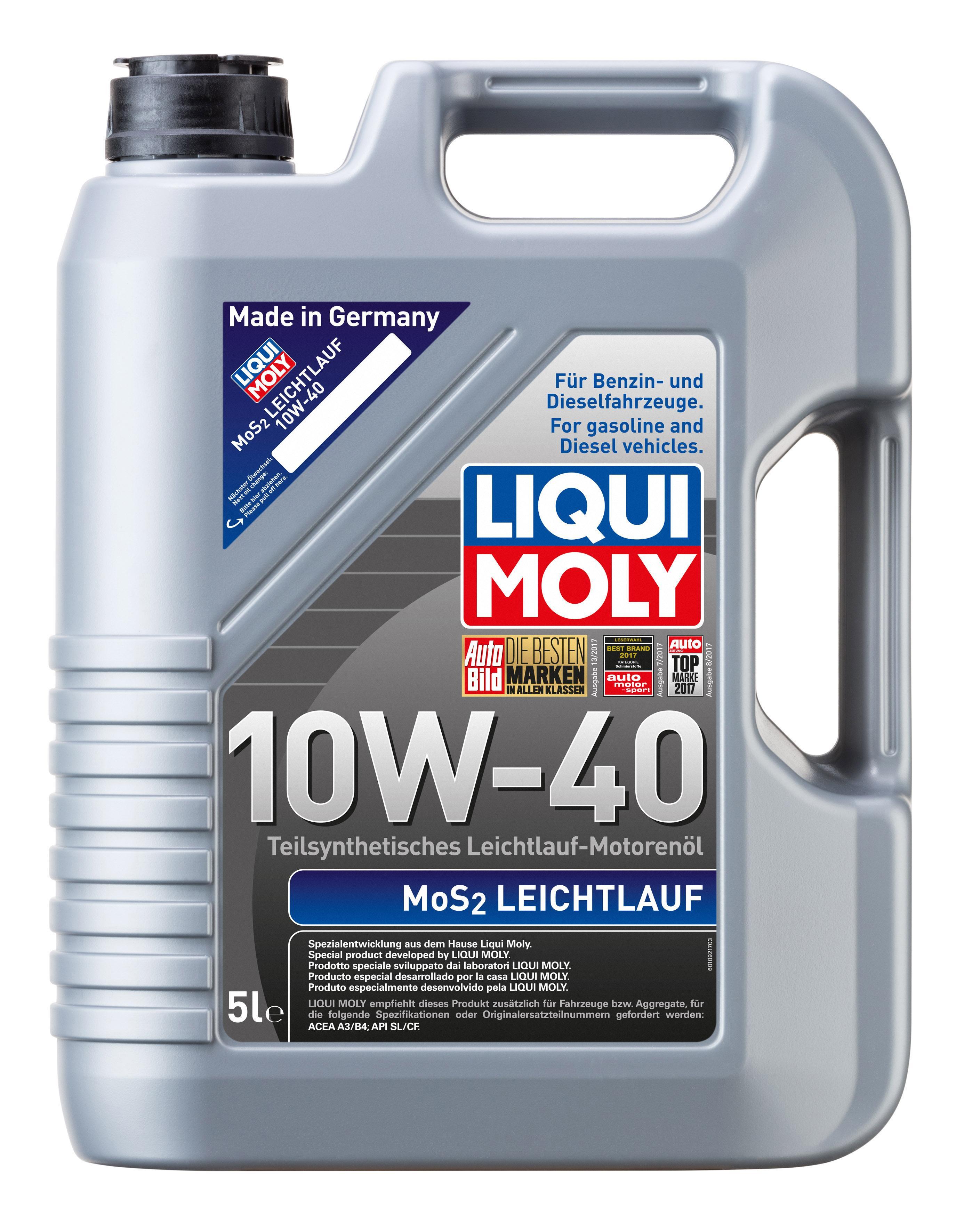 Motoröl 1092 LIQUI MOLY MoS2Leichtlauf10W40 in Original Qualität