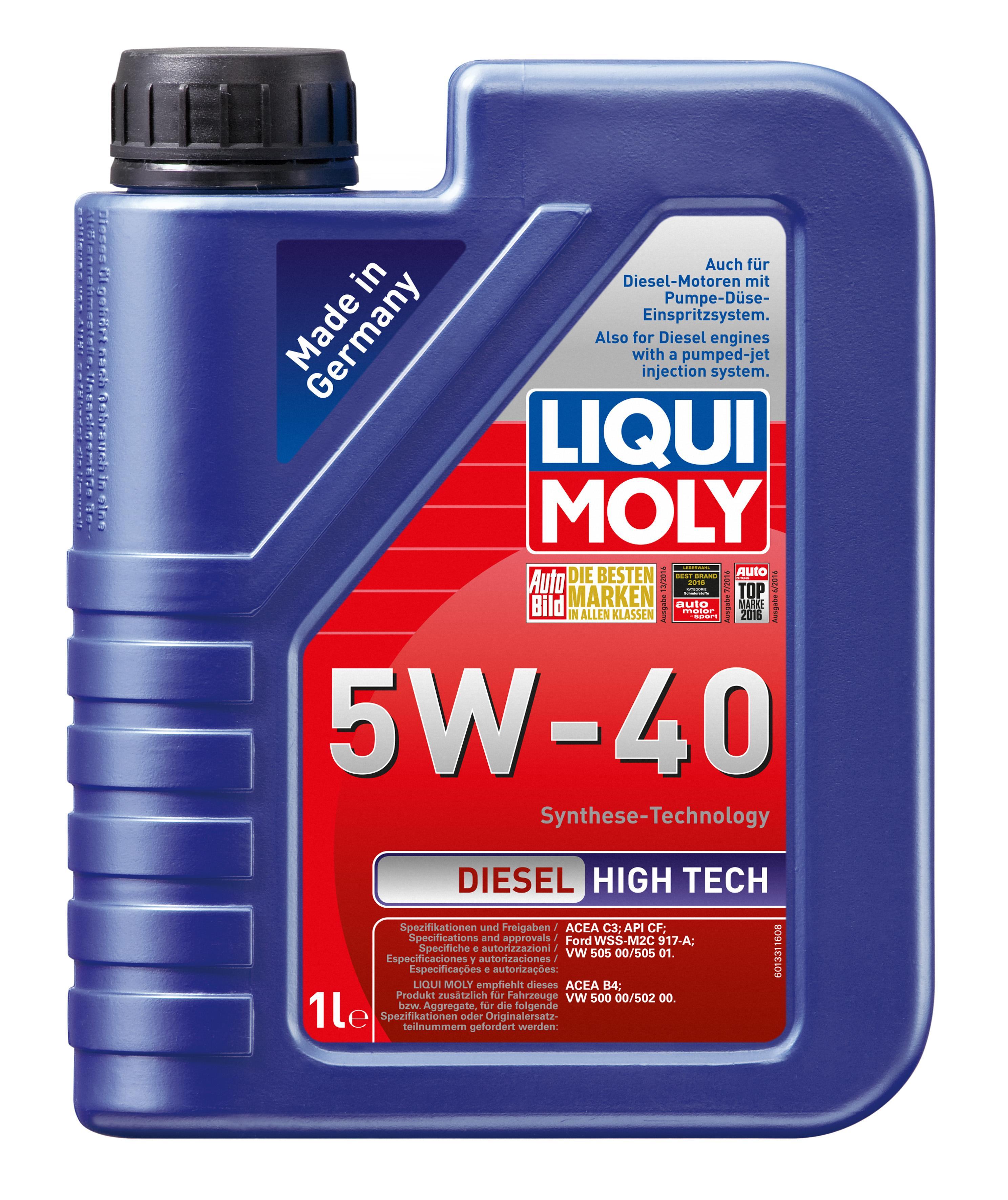 ol 1331 LIQUI MOLY DieselHighTech5W40 in Original Qualität