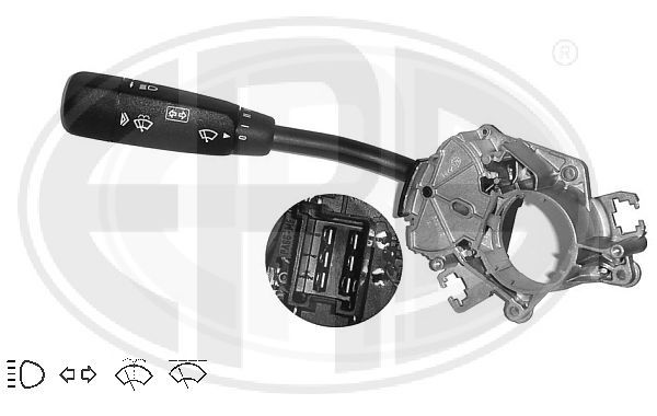ERA  440122 Steering Column Switch Number of connectors: 6, with high beam function, with indicator function, with wipe interval function, with wipe-wash function