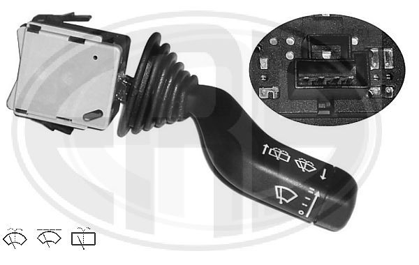 ERA  440227 Steering Column Switch Number of connectors: 4, with rear wipe-wash function, with wipe interval function, with wipe-wash function