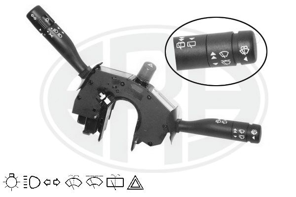 ERA  440350 Steering Column Switch Number of connectors: 22, with hazard light system function, with high beam function, with indicator function, with light dimmer function, with rear wipe-wash function, with wipe interval function, with wipe-wash function