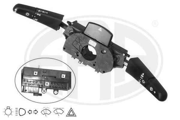 ERA  440396 Steering Column Switch Number of connectors: 22, with hazard light system function, with high beam function, with indicator function, with light dimmer function, with wipe interval function, with wipe-wash function