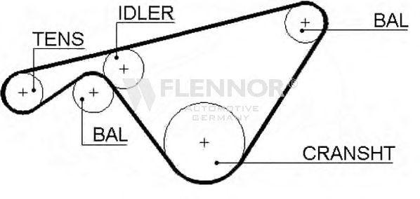 Steuerriemen 4352V FLENNOR 58110X18MMTP in Original Qualität