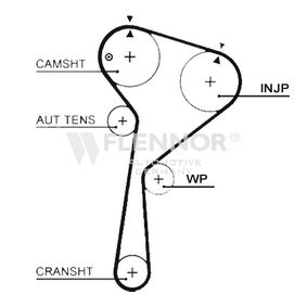 Timing Belt Width: 27mm with OEM Number 8200039519