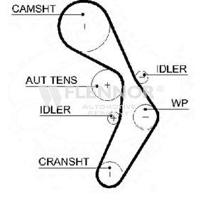 Touran 1t1 1t2 2.0FSI Zahnriemen FLENNOR 4593V (2.0 FSI Benzin 2003 AXW)