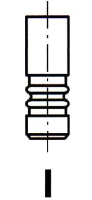 IPSA  VL137800 Auslassventil Länge: 103,9mm, Ventilteller-Ø: 29,8mm, Ventilschaft-Ø: 6mm