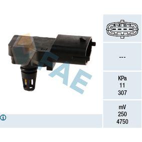 Sensor, pressão colector de admissão Número de pólos: 4pólos com códigos OEM 91.58.595
