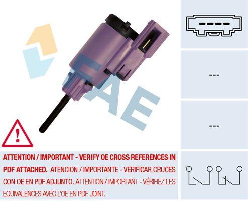 Interruptor de Luz de Freno FAE 24760 conocimiento experto