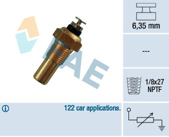 FAE  32070 Sensore, Temperatura refrigerante