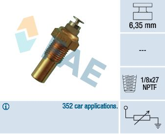 FAE  32230 Sensor, temperatura del refrigerante