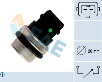FAE  33620 Датчик, температура на охладителната течност брой на полюсите: 2-щифтен