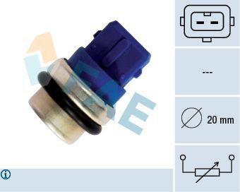 FAE  33630 Sensor, temperatura del refrigerante Número de polos: 2polos
