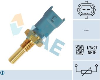 FAE  33690 Sensore, Temperatura refrigerante